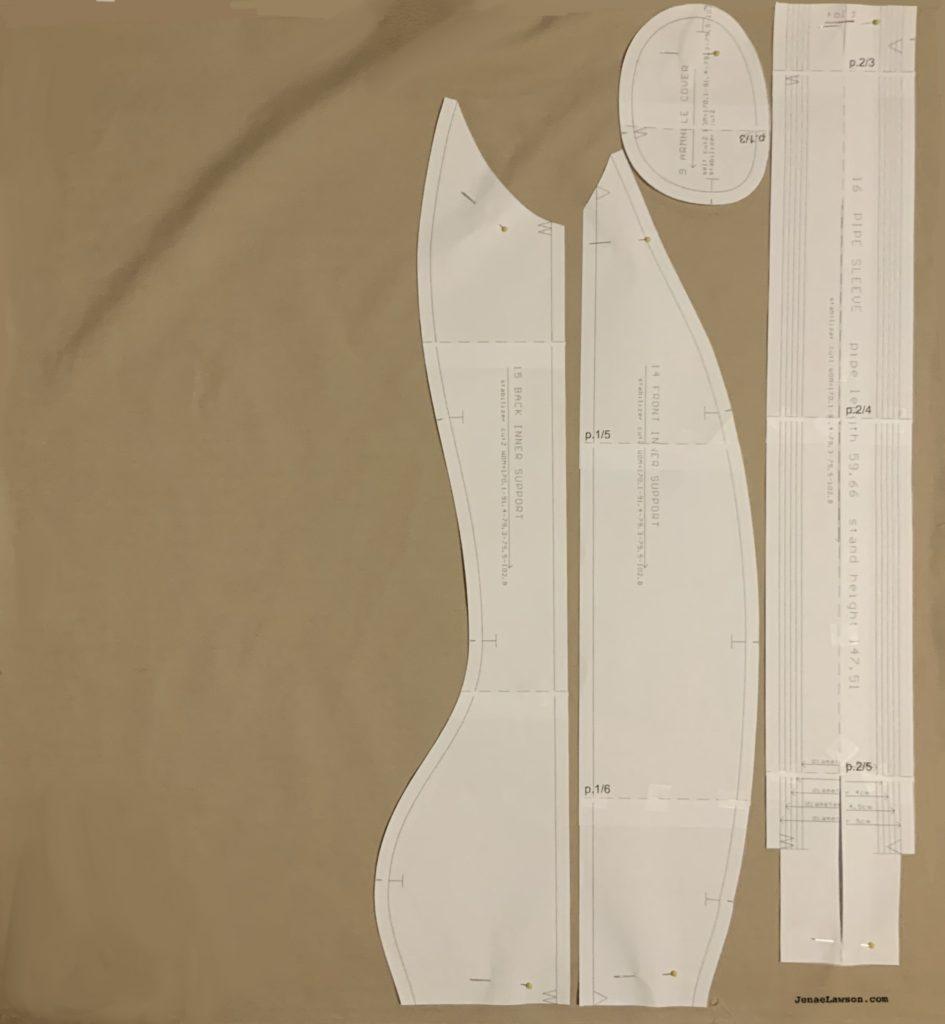 Bootstrap custom dress form—inner fabric layout